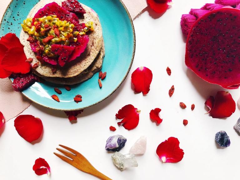 INDULGE | Red Rice Vegan Pancakes
